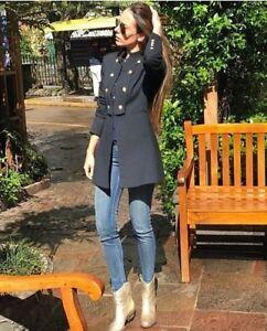 Frock Jacket Jacke Doppelreihig Zara Mantel Military Blazer Breasted Coat Double q8ZgXZE
