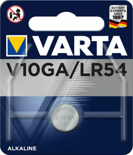 25 x Varta Alkaline V10GA LR54 AG10 10GA 389 LR1130  Knopfzelle 70mAh Batterie