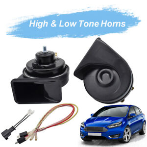 For-Ford-Focus-MK3-2011-2018-Snail-Horn-12V-Loud-Waterproof-High-Low-Pitch