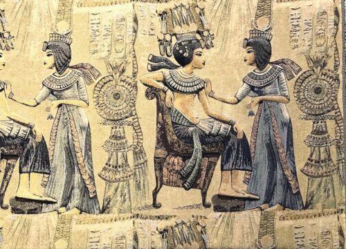 """Deko Möbel Stoff /"""" Ägypten Pharao /"""" Gobelin Kissen Tapete Teppich Überwurf"""
