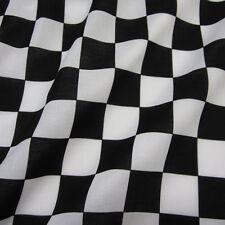 Stoff Meterware Baumwolle Zielflagge Formel 1 Schachbrett schwarz weiß Carrera