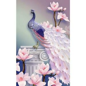 5D-DIY-Full-Drill-Square-Diamond-Painting-Peacock-Cross-Stitch-Kit-Embroidery-AU