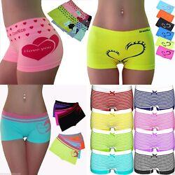 6 Stück Damen Slips Unterhose Pants TangaPantys Boxershorts Unterwäsche S M L XL
