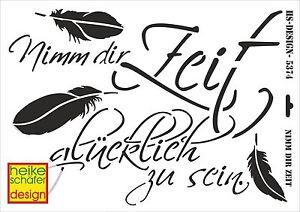 Schablone-A3-Art-Nr-027-5374-Nimm-dir-Zeit-gluecklich-zu-sein-Heike-Schaefer
