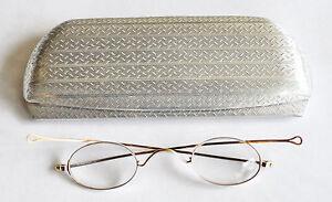 14k Solid Gold Eyeglass Frames : Antique solid 14k gold hallmarked eyeglasses with aluminum ...
