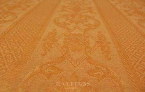 Peach Damask Floral Curtain Cushion Fabric Material