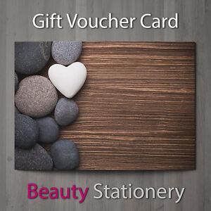 gift voucher beauty salon blank card coupon nail massage present a7