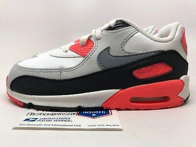 sports shoes 50bba bdf2b Nike Air Max 90 Toddler White/Infrared-Black 1 95 97 atmost sz 6c-10c New!  | eBay