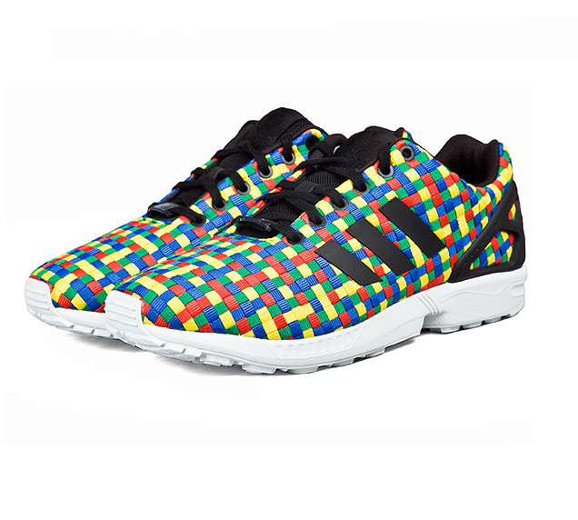 Size 9 - adidas ZX Flux Rainbow Weave