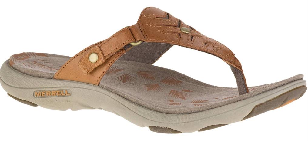 Merrell 11 Adhera Tanga Hellbraun Komfort Sandalen Damen Größe 5,6, 11 Merrell Neu 84196c