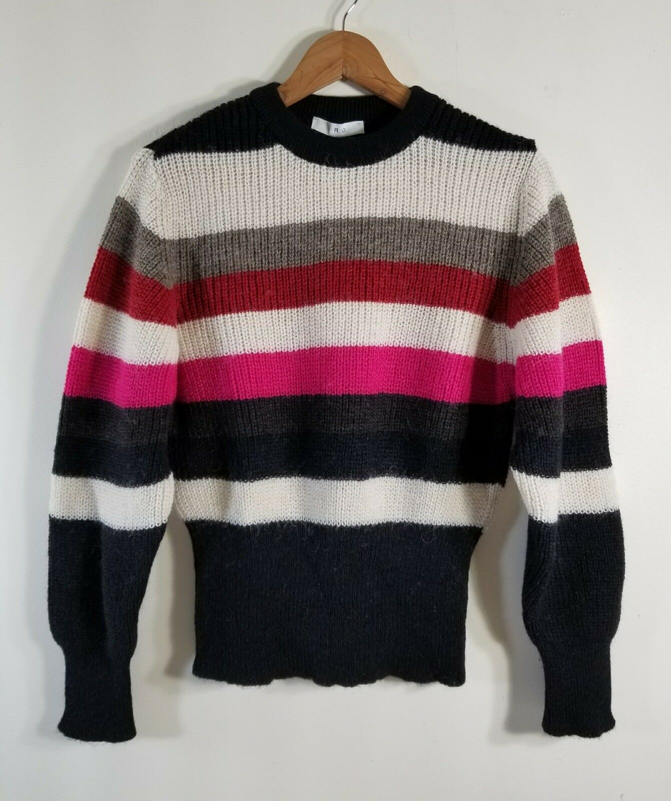 NWT Iro Badis Striped Ribbed Knit Sweater Multi Size M