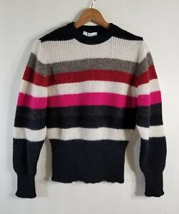 Details about NWT Iro Badis Striped Ribbed Knit Sweater Multi Size M $250