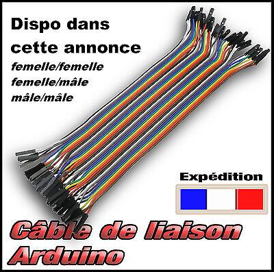 dupont câble liaison pour module Arduino mâle ou femelle 40 fils