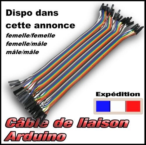 câble 40 fils de liaison Dupont Arduino mâle et femelle choix dans l/'annonce