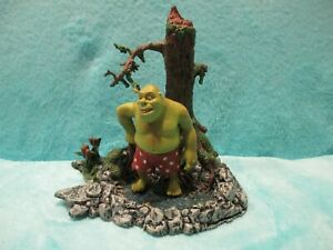 RARE-2001-McFarlane-Shrek-Swamp-Bath-Ogre-Action-Figure-Toy-Forest-Play-Set