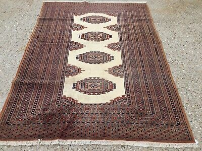 Handmade Persian Turkoman Bokhara Rug