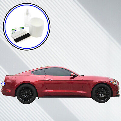 Rear Bumper Scuff Scratch Protector 2015-2017 Compatible with Ford Mustang 1pc Paint Shield Cover Black Peel and Stick Install