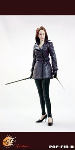 Pop - spielzeug - 1   6 nikita weiblichen agent grauen ledermantel anzug