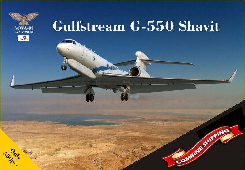 SOVA-M 72018 Gulfstream G-550 SEMA Shavit (israeliska AF) plastkit 1 72