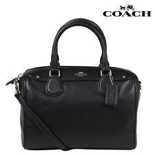 Coach F36624 Mini Bennett Satchel In Crossgrain Leather Black Bag