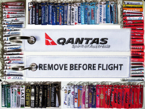 Keyring QANTAS AUSTRALIA Remove Before Flight tag keychain Pride of Australia