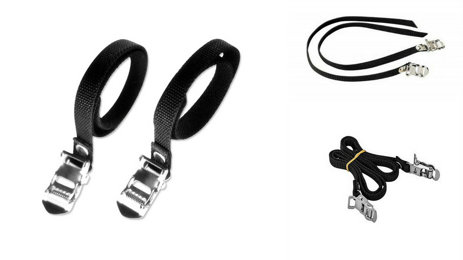 2x Correas Color Negro de Nylon para Calapie Calapies de Bicicleta Vintage 2909
