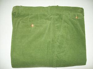 J-McLaughlin-Walker-14-Wale-Corduroy-Pants-NWT-38-unhemmed-165-Spruce-Green