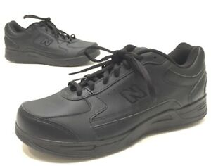 new product 79b93 d0729 Details about New Balance 576 Mens DSL-2 Black Leather Walking Shoes Size  9.5 4E