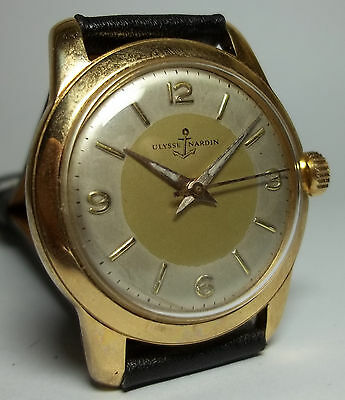 ULYSSE NARDIN AUTOMATIC WATCH VINTAGE SWISS MADE TWO TONE DIAL