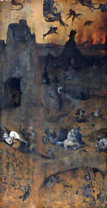 Hell-by-Hieronymus-Bosch-Handmade-Oil-Painting-Reproduction-on-Canvas-20-034-x-38