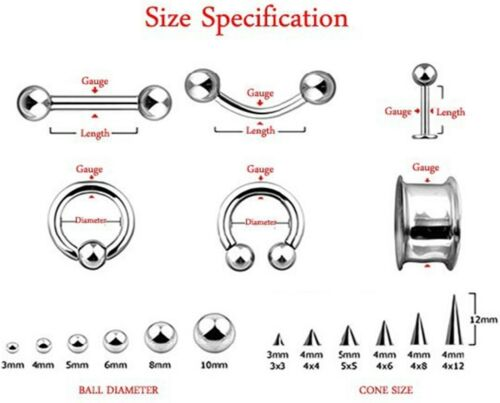 "Barbell Tongue Nipple Ring 14 Gauge 1//2/"" 5mm Balls Titanium IP Purple Body Jewel"