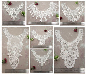 OFF-WHITE-IVORY-GUIPURE-LACE-SEW-ON-COLLAR-EMBROIDERY-EMBELLISHMENTS-SEWING