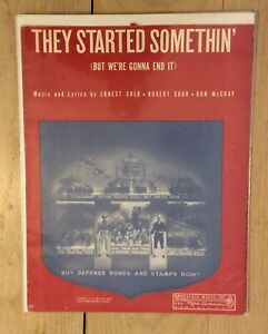 1942 WWII Sheet Music & Lyrics THEY STARTED SOMETHIN' But We're Gonna End it