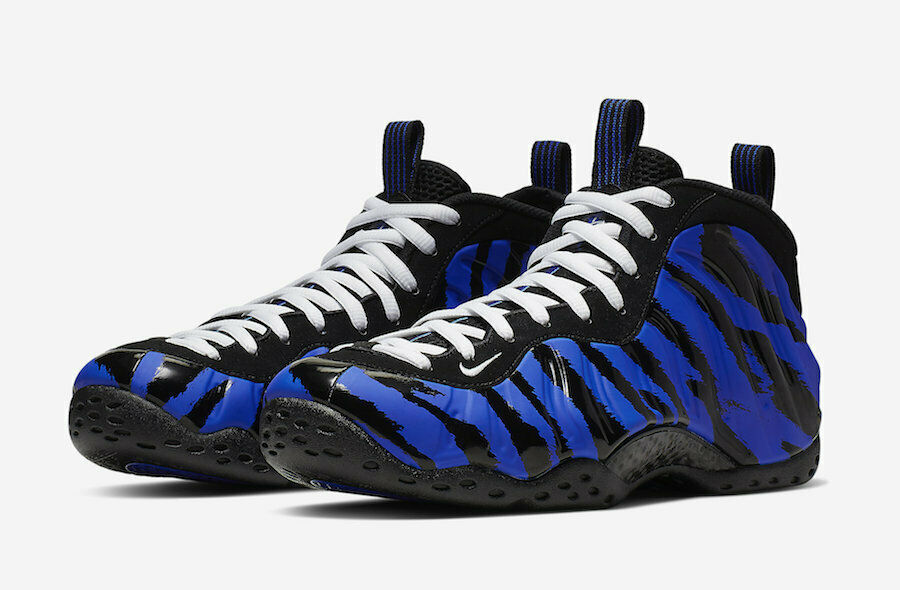 2019 Nike Air Foamposite One Memphis Tigers Racer bluee White-Black BV8161-400
