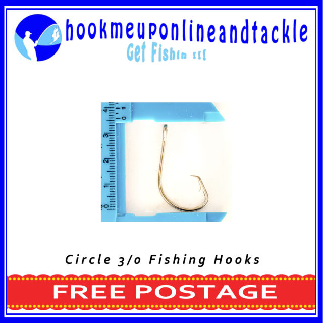 50 x 3/0 Circle / Mustu Fishing Hooks Sport Tackle Bulk Octopus Beak