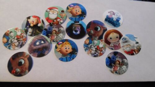 Pre Cut One Inch Bottle Cap Images Rudolph Misfits Christmas Free Shipping