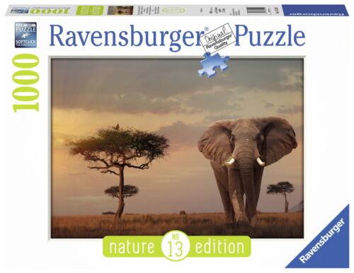 1000 Teile Ravensburger Puzzle Nature Edition Elefant in Masai Mara Park 15159