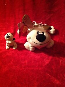 Disney's Mulan Little Brother Bean Bag Dog  New W/Tags and McDonalds PVC Toy
