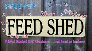 FEED SHEDROOM Stable Sign Printed Brushed Gold Ali NOT Vinyl decal or laminate - <span itemprop='availableAtOrFrom'> Wiltshire, United Kingdom</span> - FEED SHEDROOM Stable Sign Printed Brushed Gold Ali NOT Vinyl decal or laminate -  Wiltshire, United Kingdom