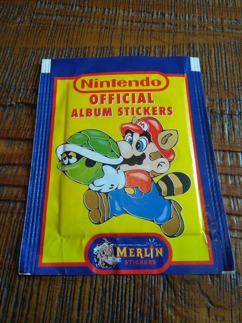 RARE Mario POCHETTE PANINI D IMAGES 6 STICKERS MARIO NINTENDO SNES NES NEUF neuf