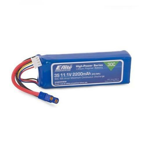Eflie 2200mah 3S 11.1volt 30C LiPo 13AWG with EC3 Connector EFLB22003S30