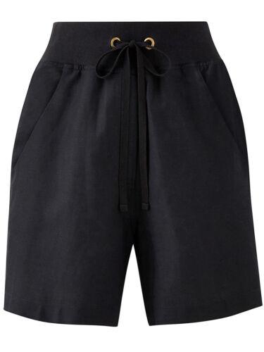 NEW ex Capsule BLACK Linen Blend Slouch Shorts sizes 14 18 20 22 24 26 /& 30