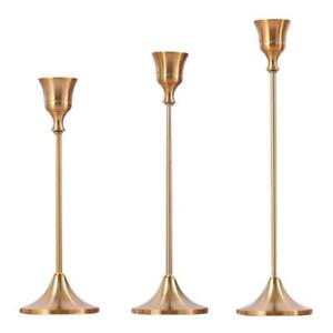 Iron-Candlestick-Candle-Holder-Gold-Stand-Base-Rack-Wedding-Party-Table-Decor