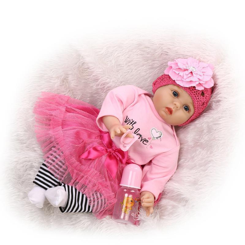 22  Niño Reborn Babys Girl Doll Silicona vinylly realista recién nacido Juguetes Regalos