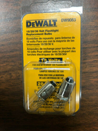 Genuine OEM DeWalt DW9083 replacement flashlight bulbs DC509 DC519 DW908 DW919