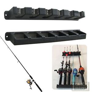 Safely Fishing Rod Rack Holder 6 Rods Vertical Pole Holder Wall Storage Stand