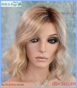 Scarlett-Jon-Renau-Natural-Look-Smart-Lace-Wig-12FS8-ROOTED-BLOND-CUTE-STYLE