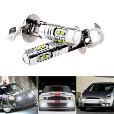 2x H3 LED 50W Xenon Super Bright White CREE Fog Light Bulb car driving drl Lamp
