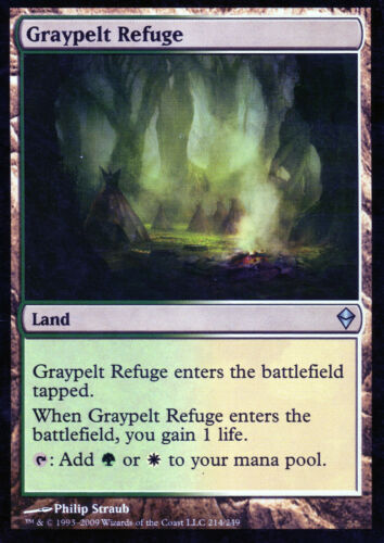 4x Graypelt Refuge//graupelz-Refuge-Zendikar-Magic EX-étroitement