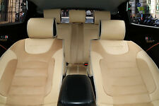 Full Car Seat Covers Suede w Leather Cushion Compatible To Jeep 2088 Tan